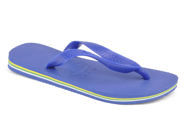 Tongs Havaianas Brazil Femme Bleu vue détail/paire