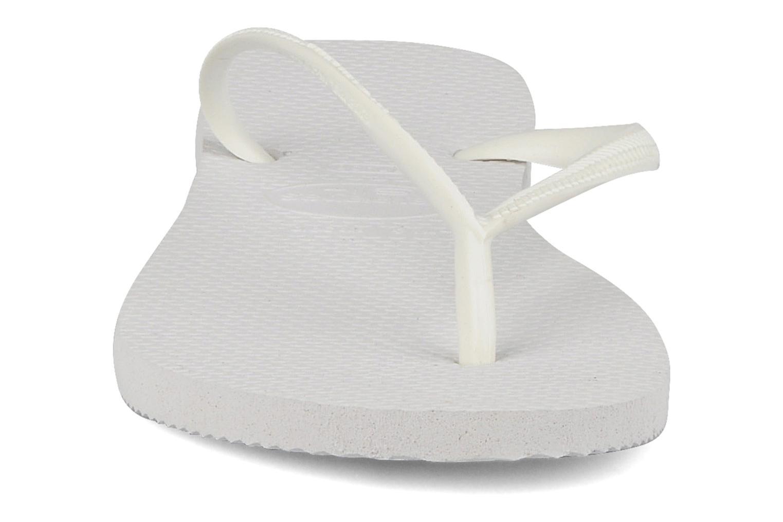 Zehensandalen Havaianas Slim Basic Femme weiß schuhe getragen