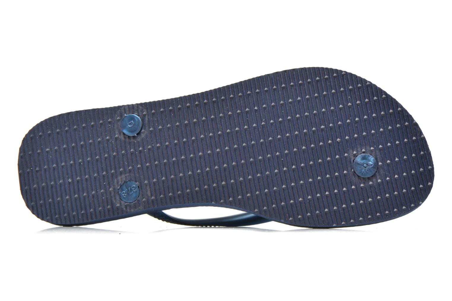 Tongs Havaianas Slim Metallic F Bleu vue haut