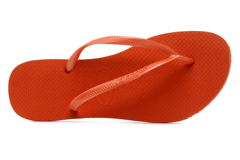 Flip flops Havaianas Slim Métallic Femme Orange view from the left