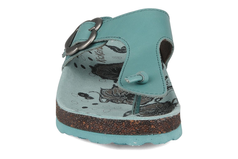Tongs Kickers Magnetic Bleu vue portées chaussures