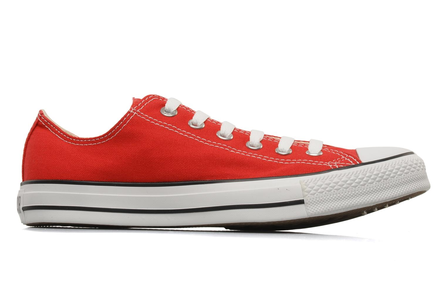 Baskets Converse Chuck Taylor All Star Ox M Rouge vue derrière