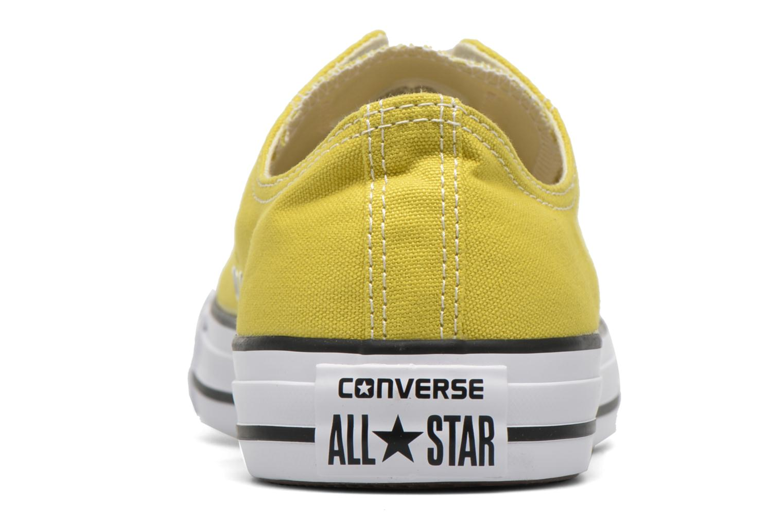 Baskets Converse Chuck Taylor All Star Ox M Jaune vue droite