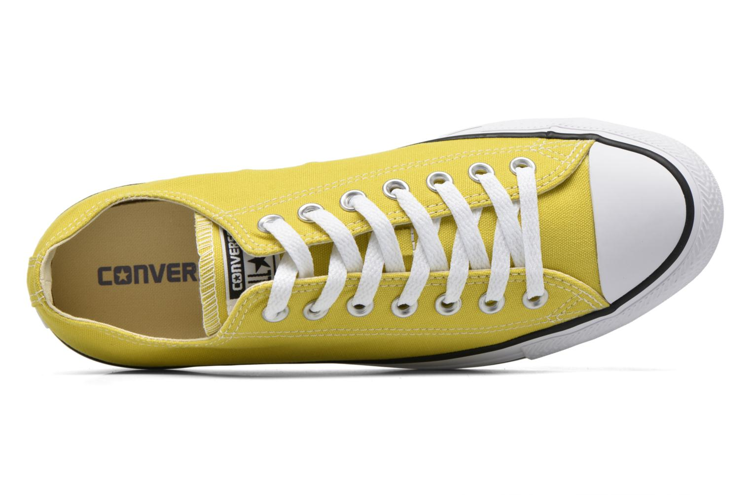 Baskets Converse Chuck Taylor All Star Ox M Jaune vue gauche