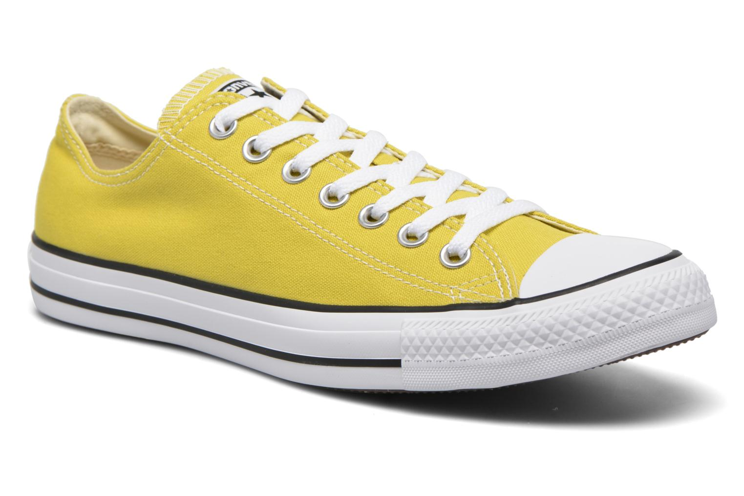 Baskets Converse Chuck Taylor All Star Ox M Jaune vue détail/paire