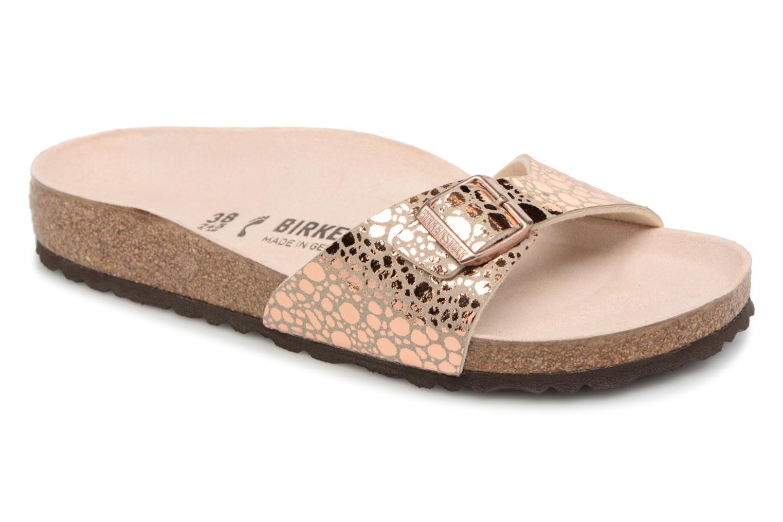 Grandes descuentos últimos zapatos Birkenstock Madrid Flor W (Oro y bronce) - Zuecos Descuento