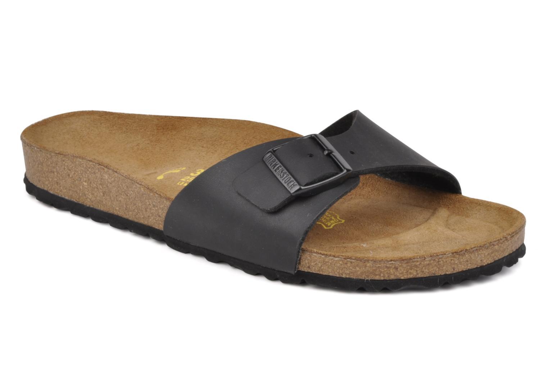 Grandes descuentos últimos zapatos Birkenstock Madrid Flor W (Negro) - Zuecos Descuento