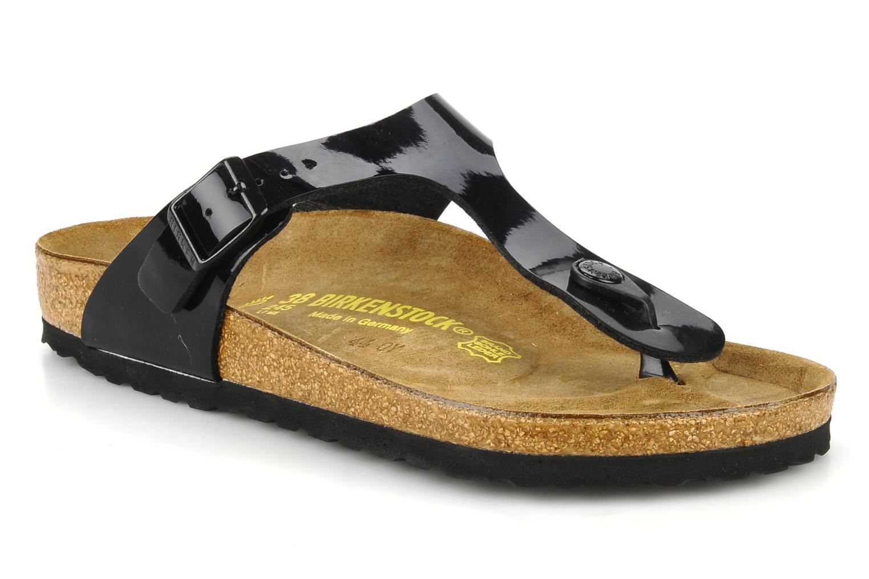 Grandes descuentos últimos zapatos Birkenstock Gizeh Flor W (Negro) - Sandalias Descuento