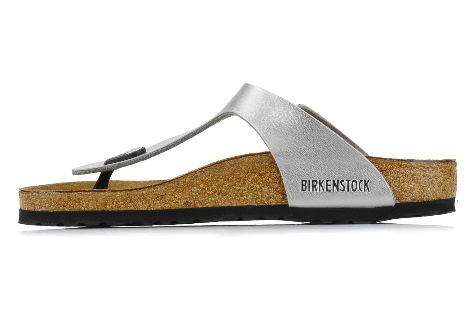 Sandals Birkenstock Gizeh Flor W Silver front view