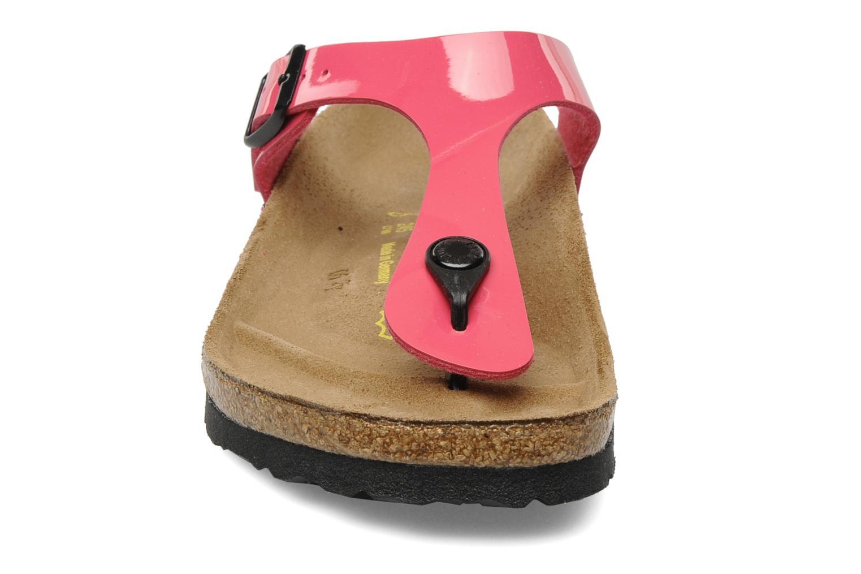Sandali e scarpe aperte Birkenstock Gizeh Flor W Rosa modello indossato
