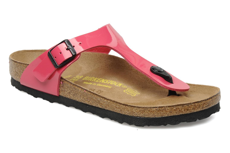 Sandales et nu-pieds Birkenstock Gizeh Flor W Rose vue détail/paire