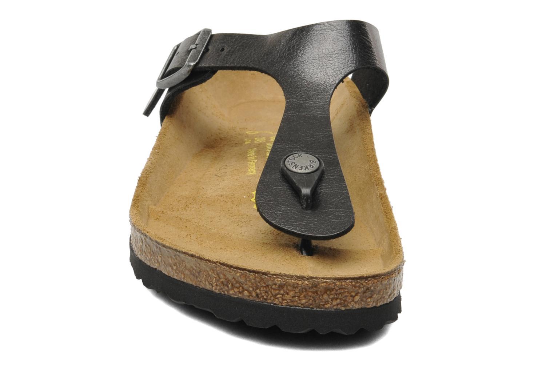 Sandalen Birkenstock Gizeh Flor W schwarz schuhe getragen