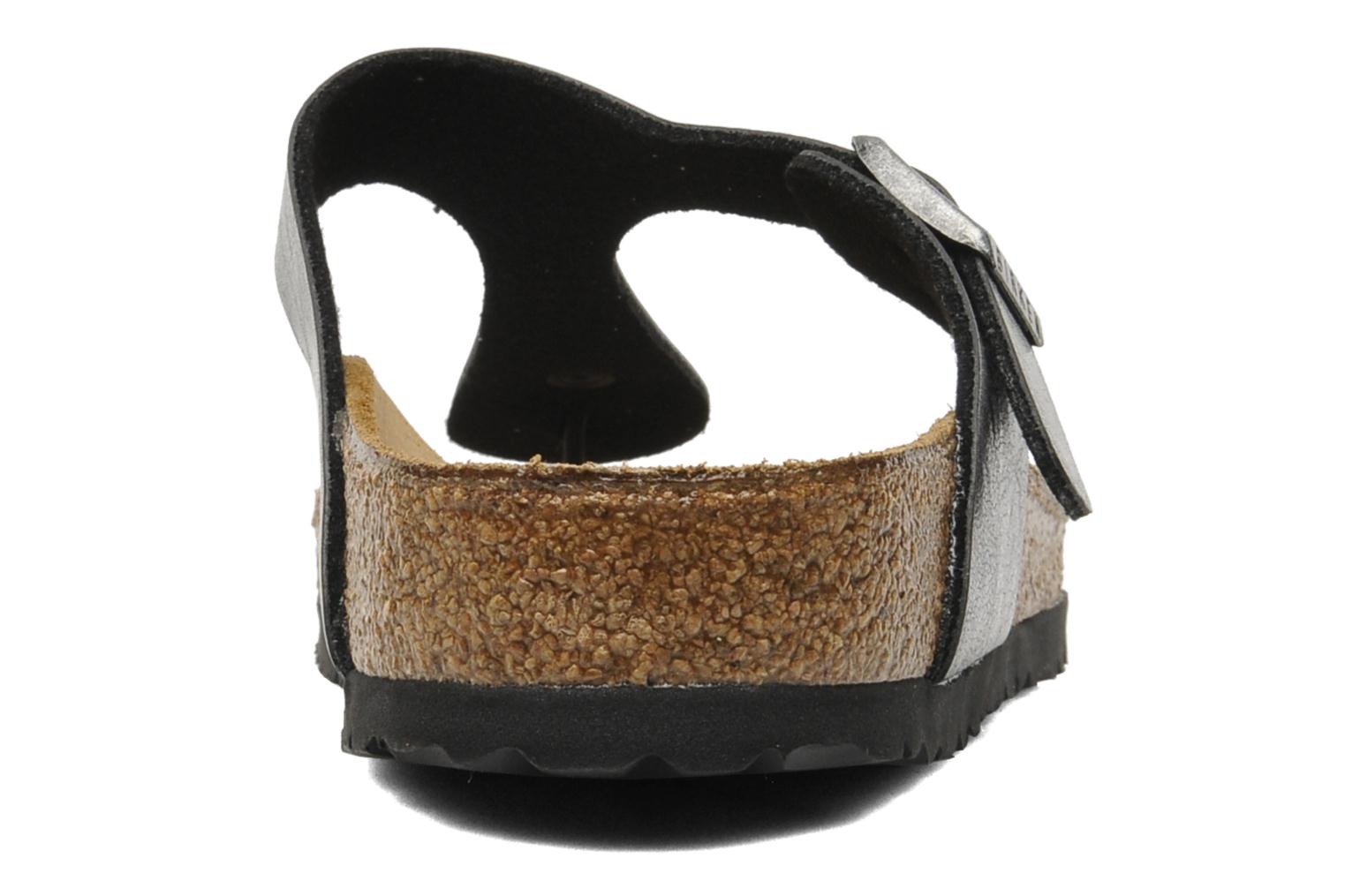 Sandals Birkenstock Gizeh Flor W Black view from the right
