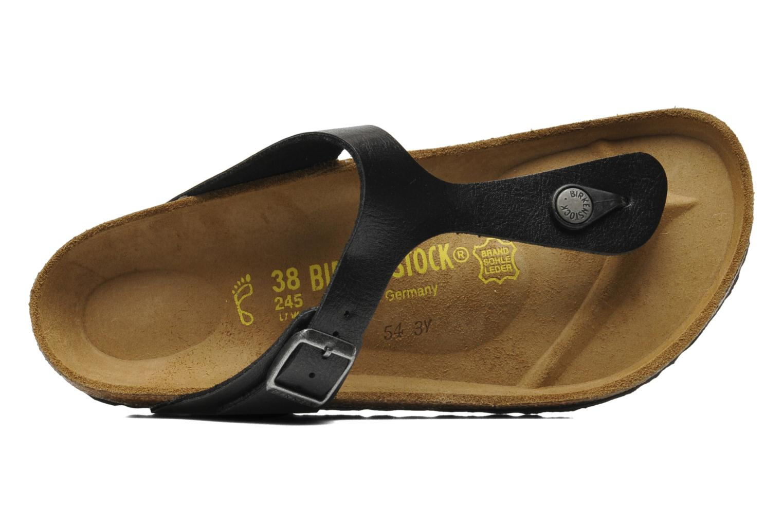 Sandali e scarpe aperte Birkenstock Gizeh Flor W Nero immagine sinistra