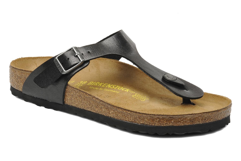 Descuento de la marca Birkenstock Gizeh Flor W (Negro) - Sandalias en Más cómodo
