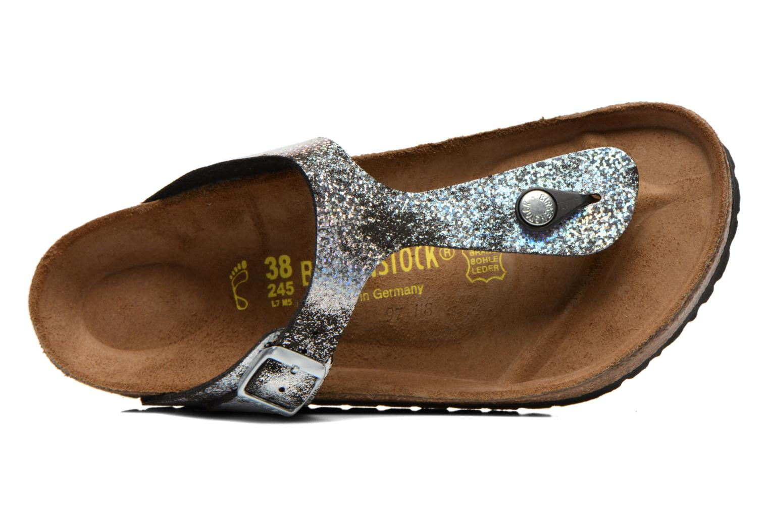 Sandals Birkenstock Gizeh Flor W Silver view from the left