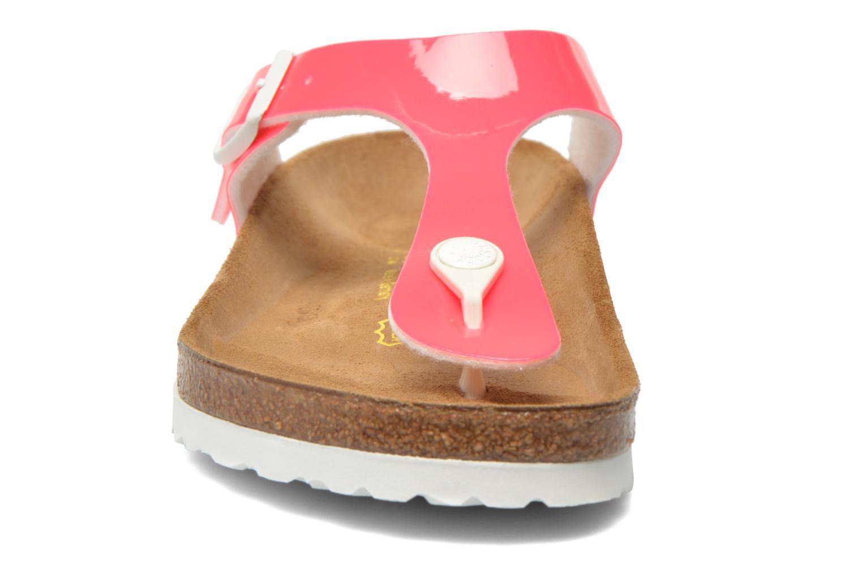 Sandaler Birkenstock Gizeh Flor W Rosa bild av skorna på