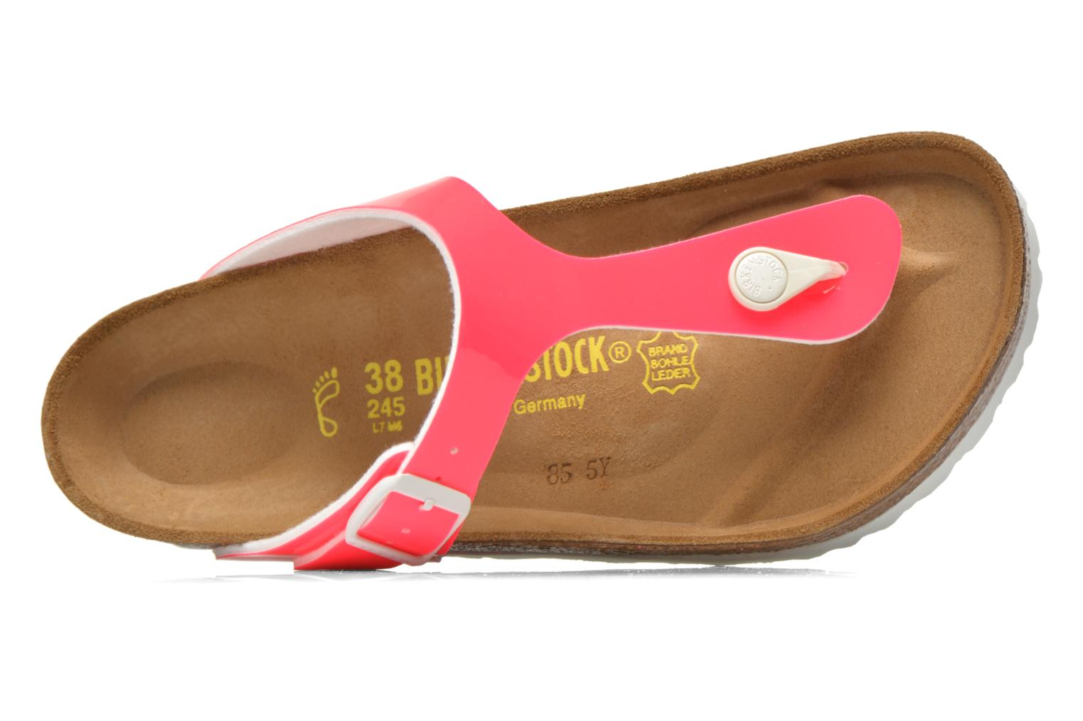 Flip flops Birkenstock Gizeh Flor W Pink view from the left