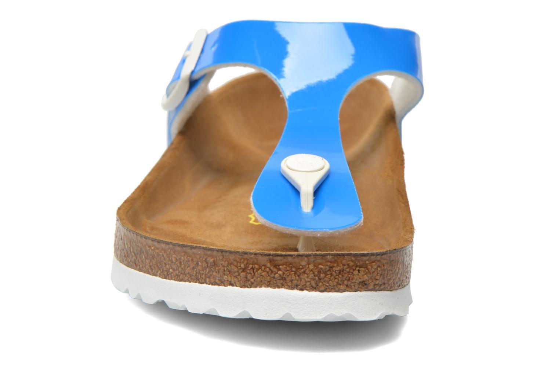 Sandales et nu-pieds Birkenstock Gizeh Flor W Bleu vue portées chaussures