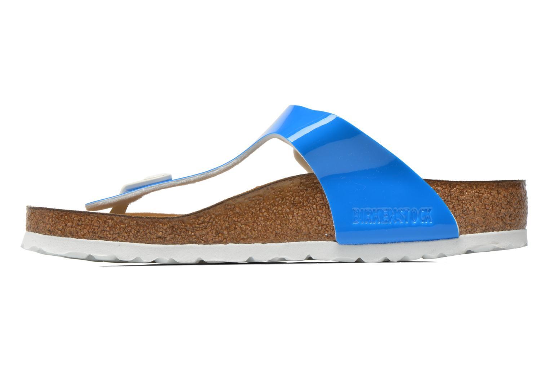 Sandales et nu-pieds Birkenstock Gizeh Flor W Bleu vue face