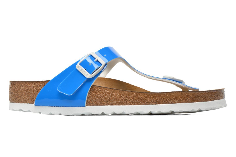 Sandals Birkenstock Gizeh Flor W Blue back view