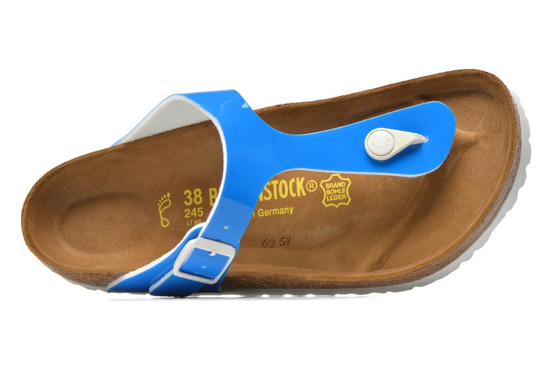 Sandales et nu-pieds Birkenstock Gizeh Flor W Bleu vue gauche
