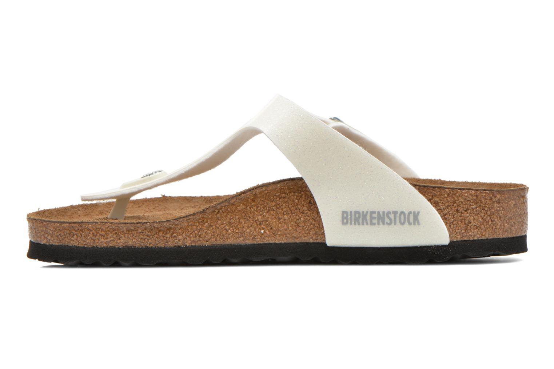 Sandali e scarpe aperte Birkenstock Gizeh Flor W Bianco immagine frontale