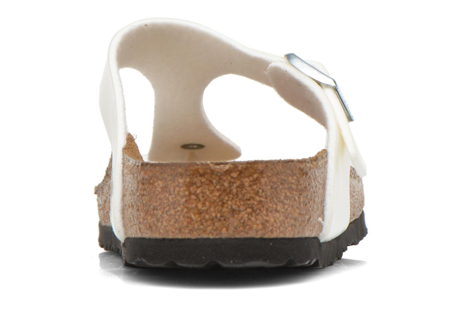 Sandals Birkenstock Gizeh Flor W White view from the right