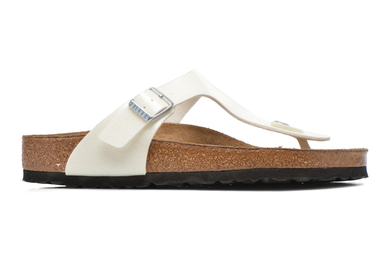 Sandali e scarpe aperte Birkenstock Gizeh Flor W Bianco immagine posteriore