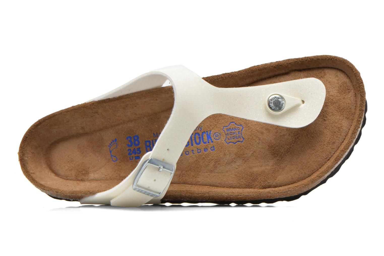 Sandals Birkenstock Gizeh Flor W White view from the left