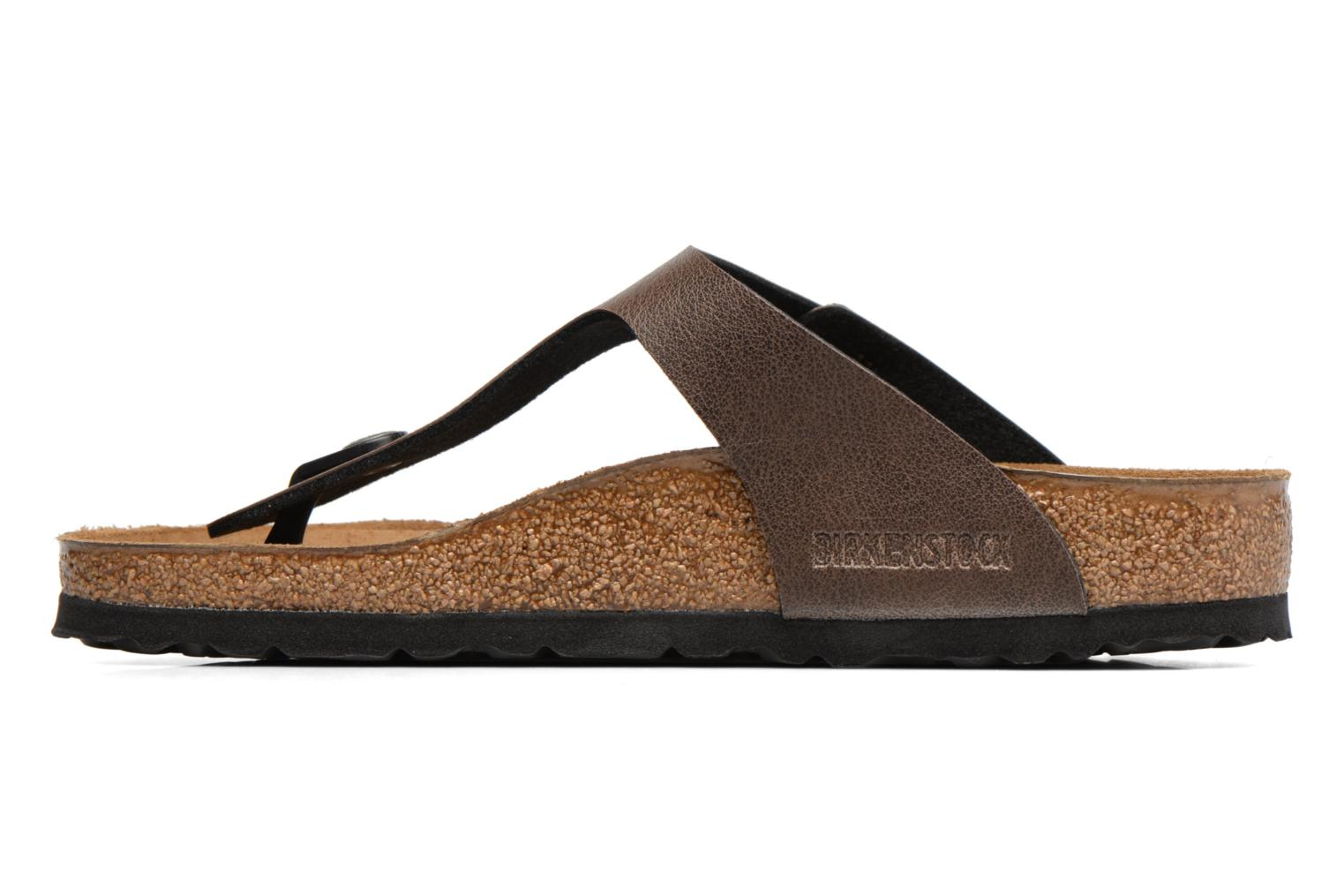 Sandals Birkenstock Gizeh Flor W Brown front view
