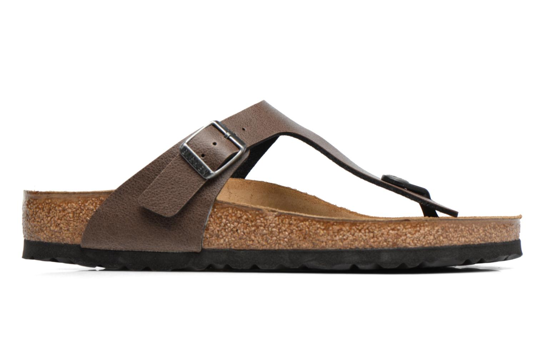 Sandals Birkenstock Gizeh Flor W Brown back view
