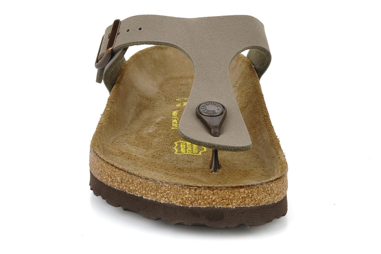 Sandales et nu-pieds Birkenstock Gizeh Flor W Gris vue portées chaussures