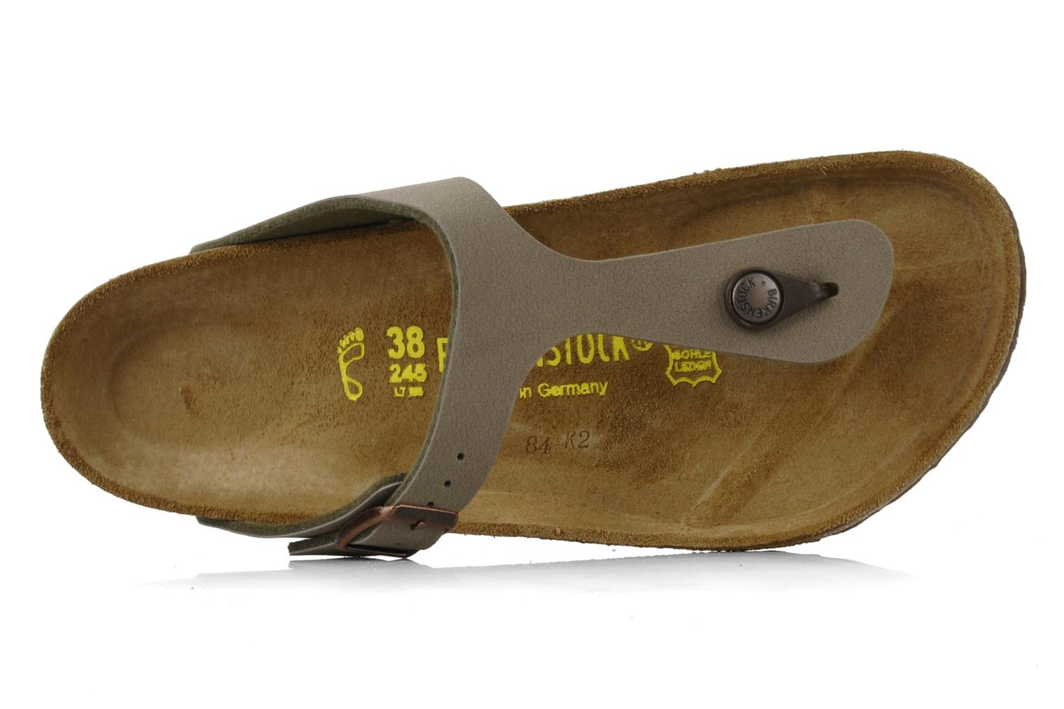 Sandals Birkenstock Gizeh Flor W Grey view from the left