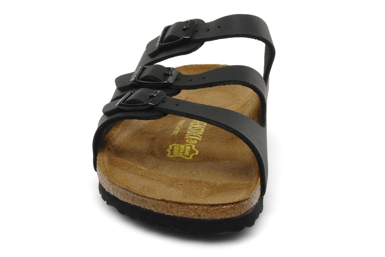 Mules et sabots Birkenstock Florida Flor W Noir vue portées chaussures