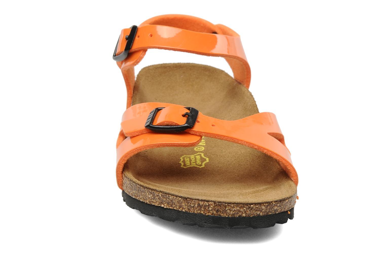 Sandales et nu-pieds Birkenstock Rio Flor E Orange vue portées chaussures