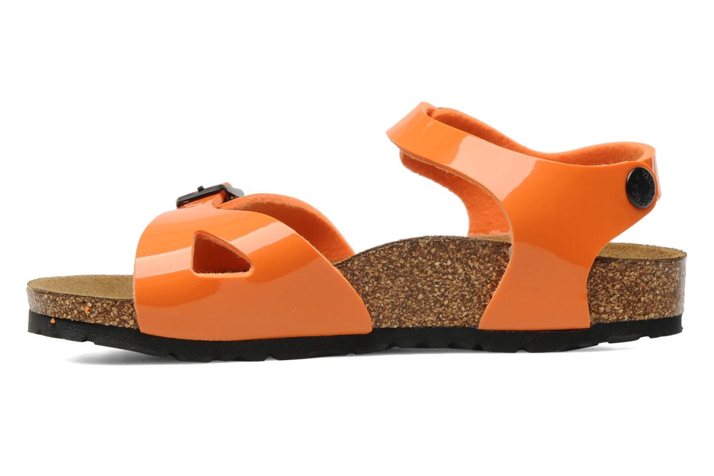 Sandalen Birkenstock Rio Flor E Oranje voorkant