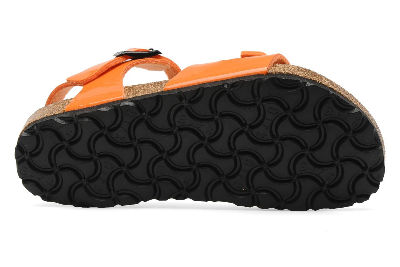 Sandales et nu-pieds Birkenstock Rio Flor E Orange vue haut