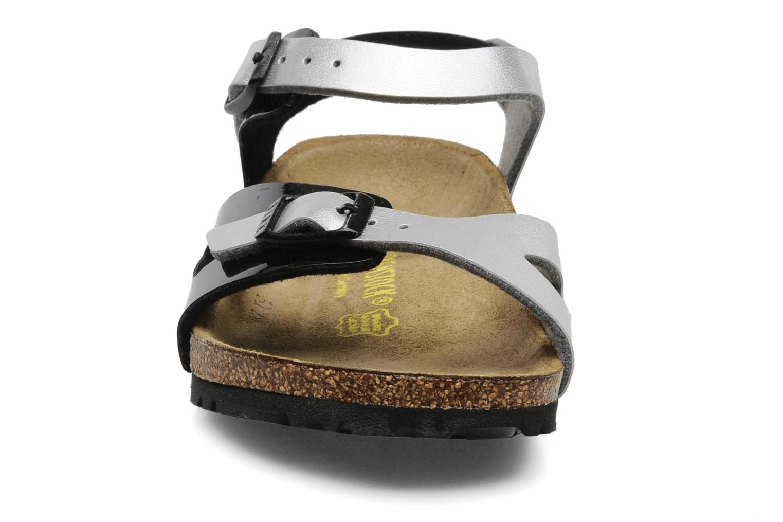 Sandalen Birkenstock Rio Flor E schwarz schuhe getragen