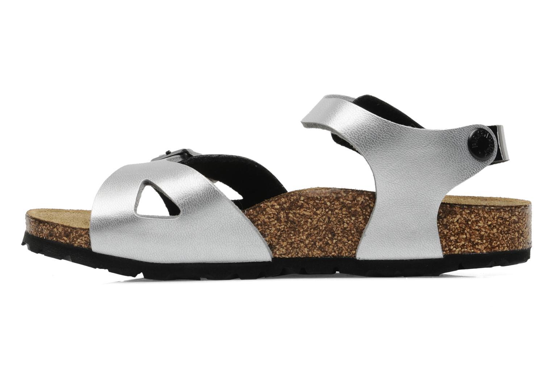 Sandalen Birkenstock Rio Flor E schwarz ansicht von vorne