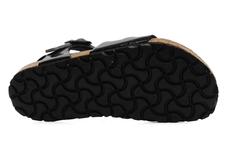 Sandalen Birkenstock Rio Flor E schwarz ansicht von oben