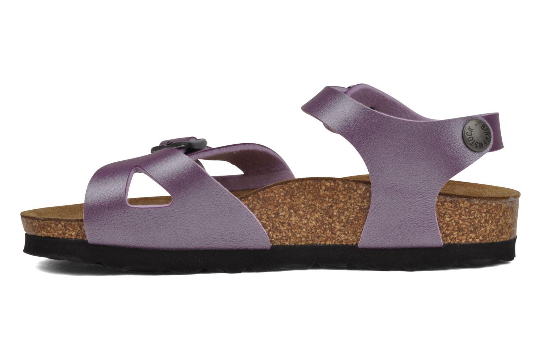 Sandales et nu-pieds Birkenstock Rio Flor E Violet vue face