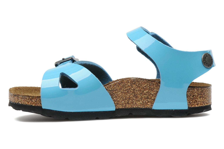 Sandalen Birkenstock Rio Flor E Blauw voorkant