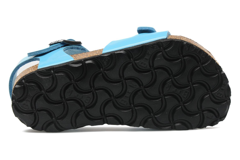 Sandales et nu-pieds Birkenstock Rio Flor E Bleu vue haut