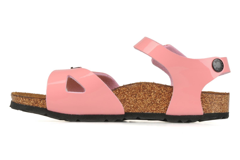 Sandalen Birkenstock Rio Flor E Roze voorkant