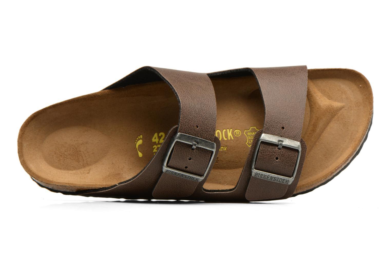 Sandales et nu-pieds Birkenstock Arizona Flor M Marron vue gauche