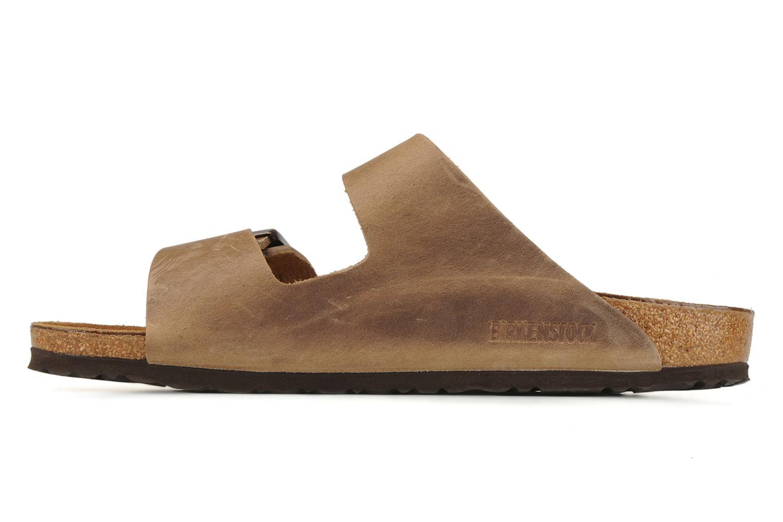 Sandalen Birkenstock Arizona Cuir M braun ansicht von vorne