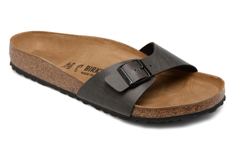 Sandaler Birkenstock Madrid Flor M Grå detaljeret billede af skoene