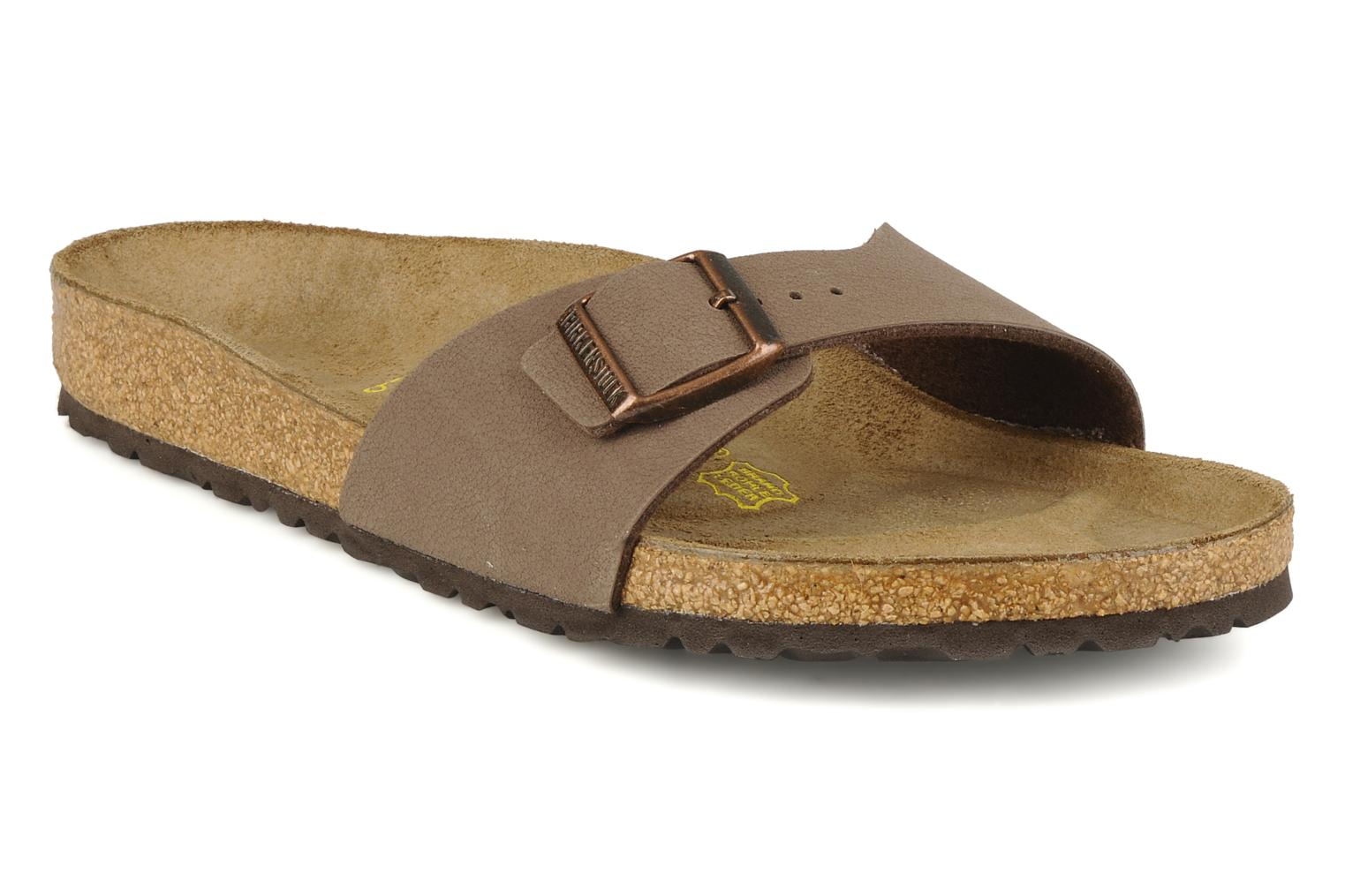Sandals Birkenstock Madrid Flor M Beige detailed view/ Pair view