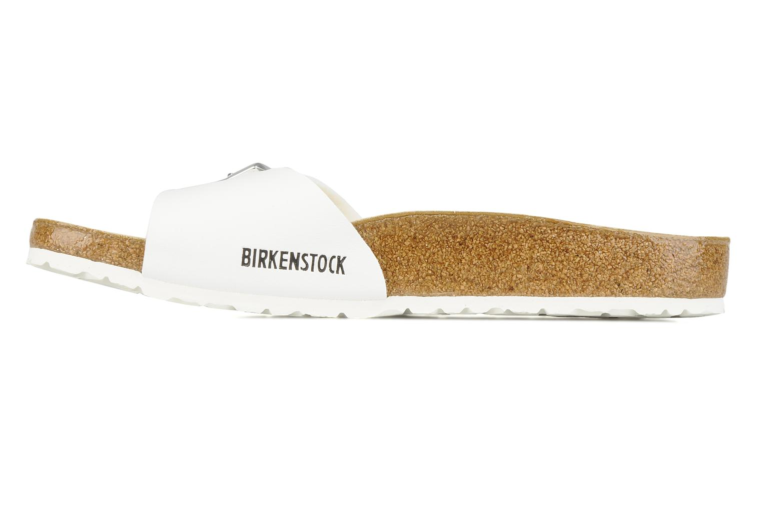 Sandals Birkenstock Madrid Flor M White front view